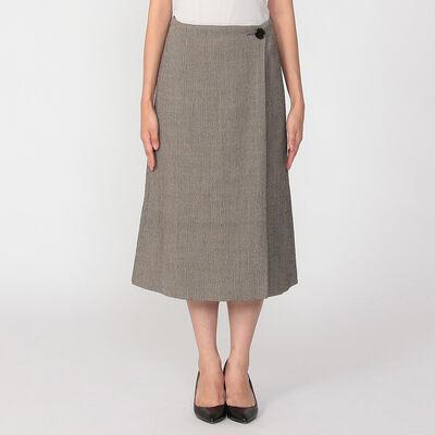 BARNEYS NEW YORK(バーニーズ ニューヨーク)セットアップヘリンボーンラップスカート