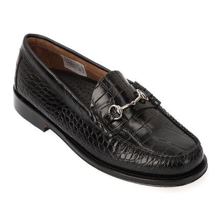Horse Bit Loafer 2140317: Black Crocodile