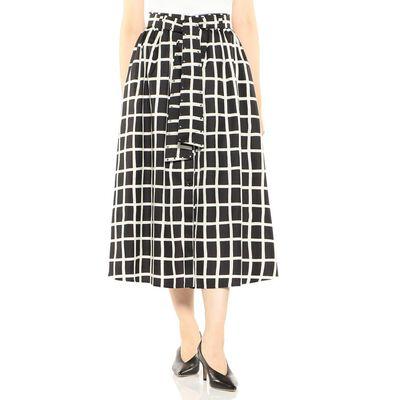 AKIRA NAKA(アキラ ナカ)チェック柄ベルテッドスカート