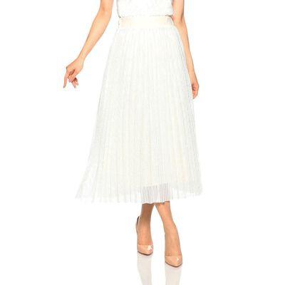 BARNEYS NEW YORK(バーニーズ ニューヨーク)スクエアレースプリーツスカート