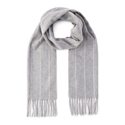 BARNEYS NEW YORK(バーニーズ ニューヨーク)ストライプ柄カシミヤウールスカーフ