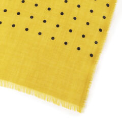 Cashmere Dot Scarf: Yellow