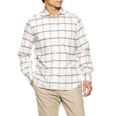 FINAMORE(フィナモレ)コットンウールチェックシャツ