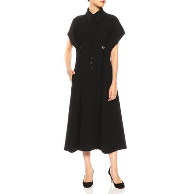 AKIRA NAKA(アキラ ナカ)ウエストボタンドレス