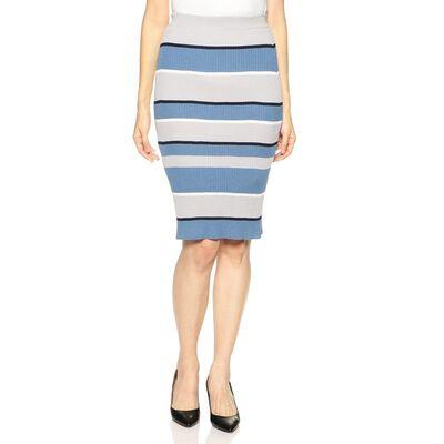 BARNEYS NEW YORK(バーニーズ ニューヨーク)ウォッシャブルマルチボーダーリブニットスカート
