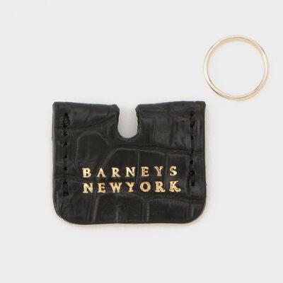 "BARNEYS NEW YORK(バーニーズ ニューヨーク)""HIGH-LINE COLLETION"" クロコダイルレザーキーキャップ"