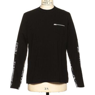 SACAI(サカイ)スリーブプリントジップポケットTシャツ
