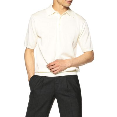 BARNEYS NEW YORK(バーニーズ ニューヨーク)海島綿ニットポロシャツ