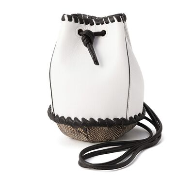 MICA DELLA VALLE(ミカデラウ゛ァッレ)パイソンバケットバッグ