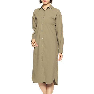 BARNEYS NEW YORK(バーニーズ ニューヨーク)ウォッシャブルバックタックシャツドレス