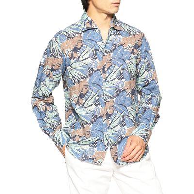 FINAMORE(フィナモレ)リーフプリントシャツ