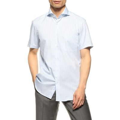 BARNEYS NEW YORK(バーニーズ ニューヨーク)半袖ストライプシャツ