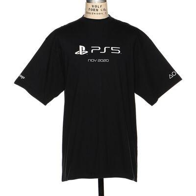 BALENCIAGA(バレンシアガ)PS5ロゴプリントTシャツ