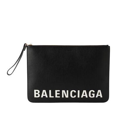 BALENCIAGA(バレンシアガ)ロゴクラッチバッグ