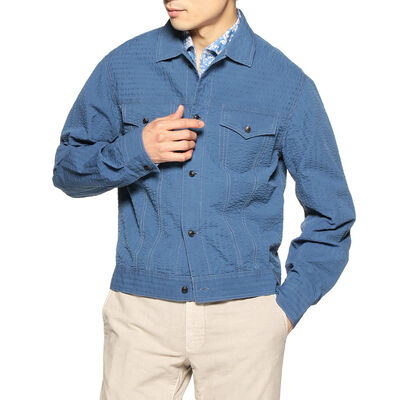 BAGUTTA(バグッダ)シアサッカーシャツジャケット