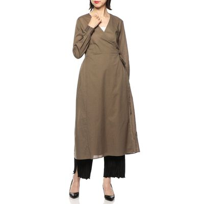 BARNEYS NEW YORK(バーニーズ ニューヨーク)ウォッシャブルコットンラップドレス