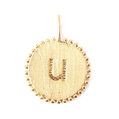 """LA SOEUR(ラ スール)【オーダー品】オンラインストア限定イニシャルペンダントトップ """"u"""""""
