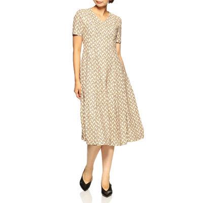 BARNEYS NEW YORK(バーニーズ ニューヨーク) Vネックプリントドレス