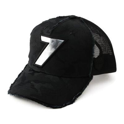 """YOSHINORI KOTAKE DESIGN(ヨシノリ コタケ デザイン)カモフラージュ柄ベースボールキャップ """"7"""""""