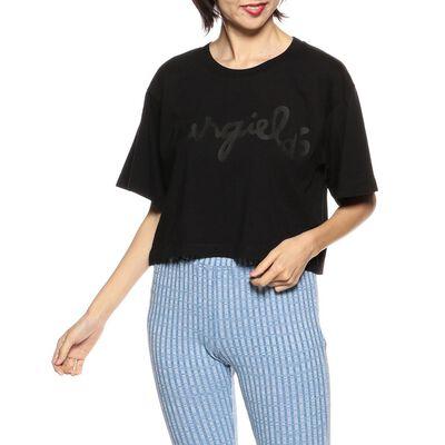 MM6 MAISON MARGIELA(エムエム6 メゾン マルジェラ)ロゴプリントクロップドTシャツ