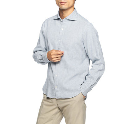 FINAMORE(フィナモレ)メランジシャツ