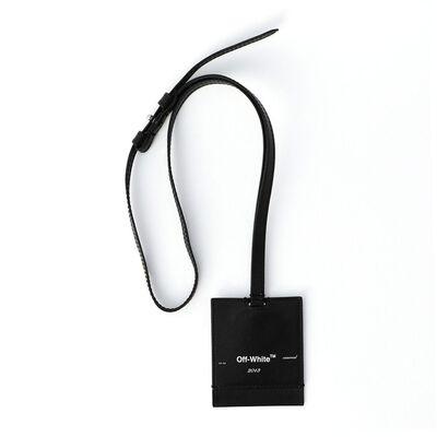 OFF-WHITE c/o VIRGIL ABLOH(オフ-ホワイト c/o ヴァージル アブロー)ネックストラップ付きレザーキーホルダー