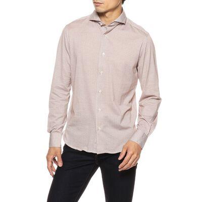 GUY ROVER(ギローバー)小紋柄ジャージーシャツ