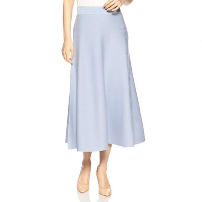 BARNEYS NEW YORK(バーニーズ ニューヨーク)ウォッシャブルニットフレアミディスカート