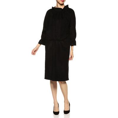 ATLANTIQUE ASCOLI(アトランティックアスコリ)フリルネックシャツドレス