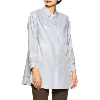 BARNEYS NEW YORK(バーニーズ ニューヨーク)ウォッシャブルストライプビッグシャツ
