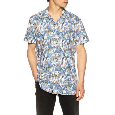 BORRIELLO(ボリエッロ)ボタニカル柄オープンカラーシャツ