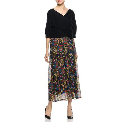 MUVEIL(ミュベール)フラワープリントドレス