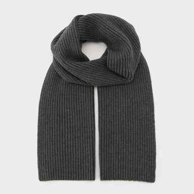 Wool Knit Scarf 2079014: Grey