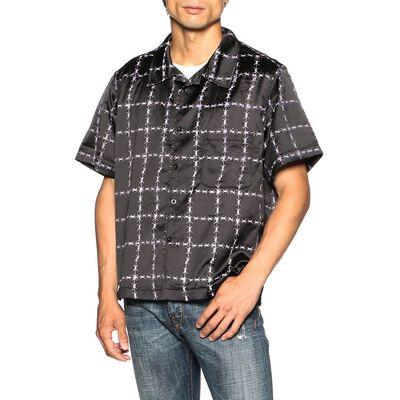 REAL BUY(リアルバイ)プリントオープンカラーシャツ