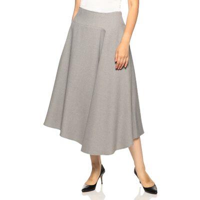 BARNEYS NEW YORK(バーニーズ ニューヨーク)アシンメトリーフレアミディスカート