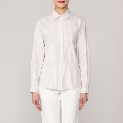 VIS A VIS(ヴィザヴィ)ストライプレギュラーカラーシャツ