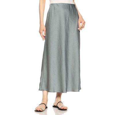 BARNEYS NEW YORK(バーニーズ ニューヨーク)ウォッシャブルサテンロングスカート