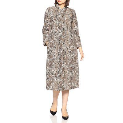 BAUM UND PFERDGARTEN(バウム ウンド ヘルガーテン)レオパードシャツドレス