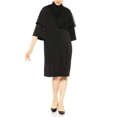 AKIRA NAKA(アキラ ナカ)コンビネーションハイネックドレス