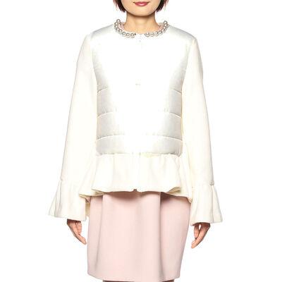 YOKO CHAN(ヨーコ チャン)パールネックコンビネーション中綿コート