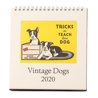 "CAVALLINI(カヴァリーニ)2020年度 デスクカレンダー ""VINTAGE DOGS"""