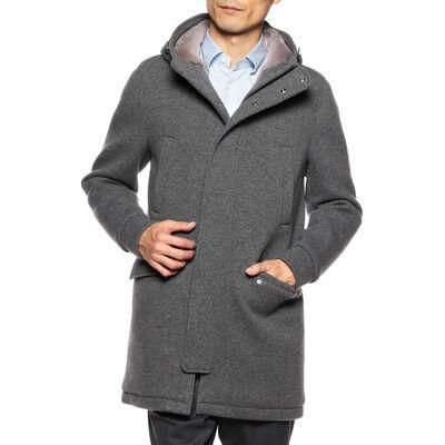 HERNO(ヘルノ)ウールボンディング中綿フーデッドコート