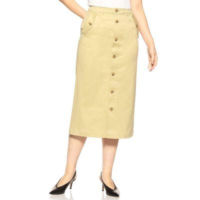 BARNEYS NEW YORK(バーニーズ ニューヨーク)ウォッシャブルフロントボタンIラインスカート