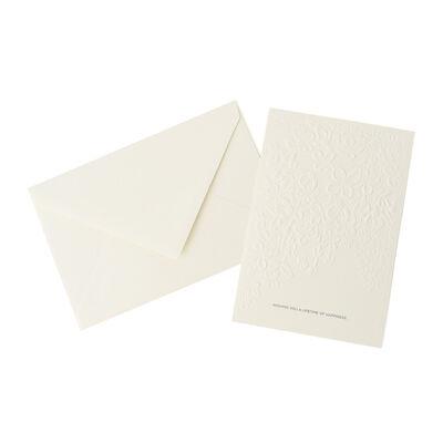 VERA WANG PAPERS(ヴェラ ウォン ペーパーズ)ライラックエンボスカード