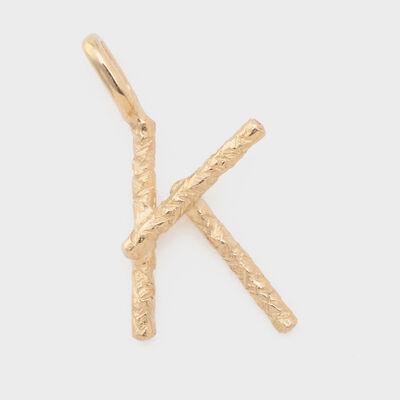 "STUDIO WATERFALL(スタジオ ウォーターフォール)【オーダー品】ペンダントトップ ""K"""