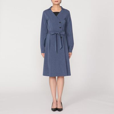 BARNEYS NEW YORK(バーニーズ ニューヨーク)ウエストリボンラップシャツドレス