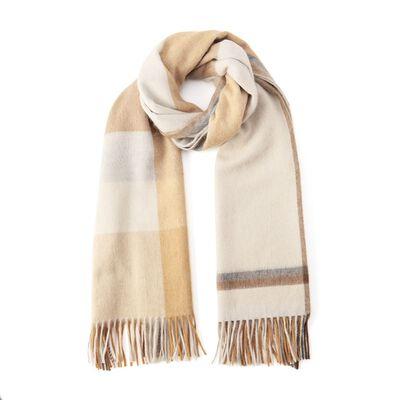 BEGG & CO(ベグ アンド コー)ウールアンゴラチェック柄スカーフ