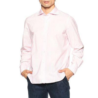 FINAMORE(フィナモレ)ストライプ柄カジュアルシャツ