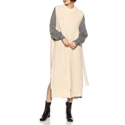 HYKE(ハイク)ノースリーブニットドレス