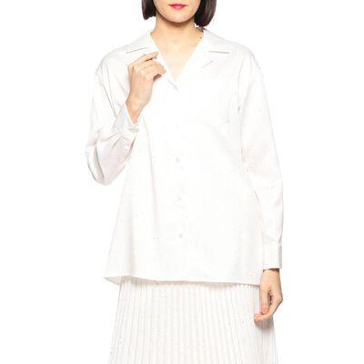 TARO HORIUCHI(タロウホリウチ)オープンカラープリントシャツ